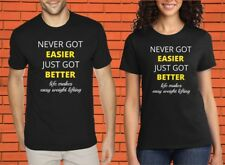 Never Got Easier Crossfit Gym Fitness Heavy Weight Lift Protein T shirt