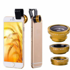 3 in 1 Wide Angle Macro Fisheye Cellphone Lenses Kit with Clip Fish Eye Lens