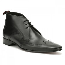 Jeffery West Mens Medusa Black Escobar Brogue Chukka Shoes UK Sizes [6-11]