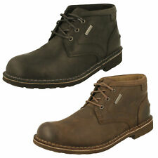 Hombre Clarks Cordones Piel Impermeable Botines Casuales Zapatos Lawes mid gtx