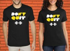 Don't Quit Dumbbell Crossfit Gym Fitness Heavy Weight Lift Muscle T shirt