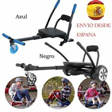 ASIENTO ACOPLE PATINETE ELECTRICO HOVERBOARD HOVERKART KART SILLA AZUL/NEGRO EJ