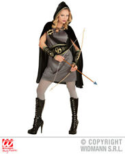 Ladies Medieval Archer Girl Costume Historic Ancient Middle Ages Fancy Dress