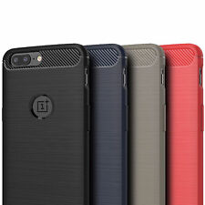 Ultra Slim Carbon Fiber Silicone Brushed Shockproof Case Cover For OnePlus 5T 6