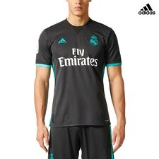ADIDAS REAL AWAY MAILLOT OFFICIEL REAL MADRID SECONDE 2017/18 NOIR CF9578