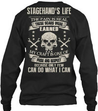 Stagehand Pride And Respect! - Stagehand's Life Gildan Long Sleeve Tee T-Shirt