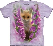 The Mountain Unisexe Adulte Foxgloves Animaux T Shirt