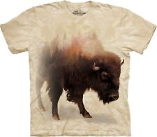 The Mountain Unisexe Adulte Bison Forest Animaux T Shirt