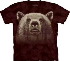 The Mountain Unisexe Adulte Bear Face Forest Animaux T Shirt