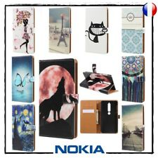 Etui Coque housse Porte-cartes Cuir PU Leather Wallet Case Cover NOKIA 6 (2018)