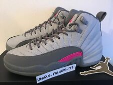 NIKE AIR JORDAN XII 12 RETRO GG GS UK 3 4 5 6 7 WOLF GREY VIVID PINK 510815-029