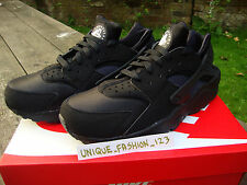 NIKE AIR HUARACHE LE TRIPLE BLACK 12 11 10 9 8 7 6 QS OG WHITE PURE PLATINUM 201