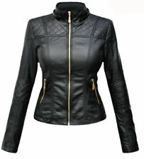 Women's Designer Lambskin Motorcycle Leather Slim Fit Biker Jacket