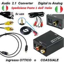 Digital/analogico Audio convertitore adattatore RCA ottico jack cuffie bluetooth