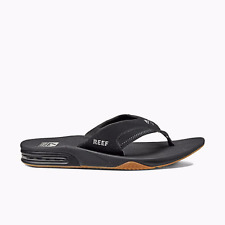 Tongs Sandals Reef Fanning Black/Argent