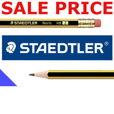 1 - 72 STAEDTLER NORIS PENCILS with ERASER RUBBER TIP HB DRAWING SCHOOL DESIGN