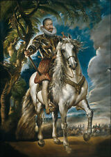 Equestrian Portrait of the Duke of Lerma Peter Paul Rubens - Poster Canvas A4-A1
