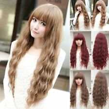 Women Long Curly Wavy Full Wig Heat Resistant Hair Cosplay Party Lolita PopulAV