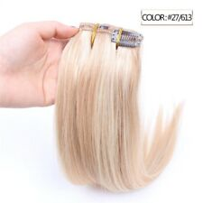 Luxury Clip In Human Hair Extensions #27/613 Balayage Ombre Remy 7pcs 100g