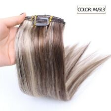 Luxury Clip In Human Hair Extensions #4/613 Balayage Ombre Remy 7pcs 100g