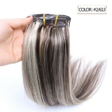 Luxury Clip In Human Hair Extensions #2/613 Balayage Ombre Remy 7pcs 100g