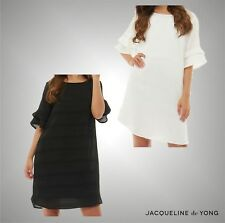 Ladies Branded Jacqueline De Yong Stylish Short Sleeve Frill Dress Size UK 6-14