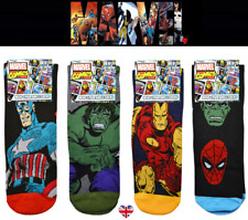 MENS MARVEL COMICS SOCKS Avengers Licensed Hulk Spiderman Iron Man Capt America