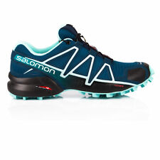 Salomon Womens SPEEDCROSS 4 Trail Running Shoes Trainers Sneakers Navy Blue