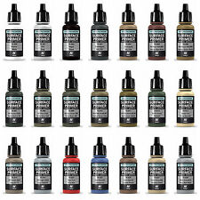 Vallejo Model Air Surface Primer Polyurethane Acrylic 17ml Bottles All Colours