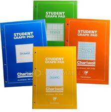 5x Chartwell A4 Student Graph Pad. Isometric, Squared, Variable Grid. 50 Sheets.