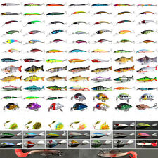Mixed Minnow Saltwater Fishing Lures Trout Bass Soft Bait Pike Crankbaits Hooks