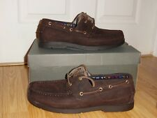 NEW Timberland Earthkeepers Kiawahby Boat Dark Brown shoes Casual Mens Sz 8