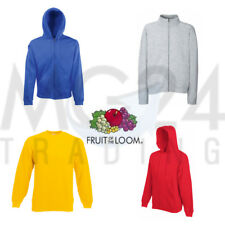 FRUIT OF THE LOOM Sweatshirt stehkragenpullover Pullover con o senza zip NUOVO