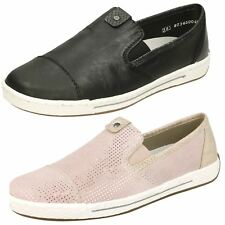 Donna Rieker L3051 Nero o Rosa Rosa in pelle Scarpe Casual Slip-On