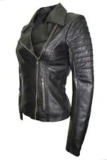 Luxury New Ladies City Jacket Black Real Soft Nappa Leather Casualm Style Design
