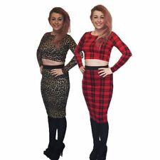 2 piece outfit set, crop top and matching midi skirt