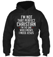 Im Not That Perfect Christian - I'm The One Who Knows I Gildan Hoodie Sweatshirt