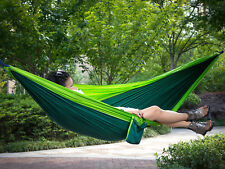 Double Person Hanging Bed Sleeping Swing  Portable Outdoor Camping Hammock Pure