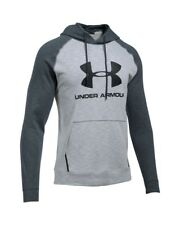 00 Under Armour Sportstyle Fleece Triblend Felpa Uomo con Cappuccio, Stealth Gra