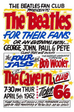 The Beatles Poster for The Beatles Fan Club Concert - A4 Print High Quality