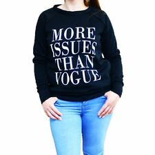Negro Sudadera / Top Con 'More Issues Than Vogue' Logo