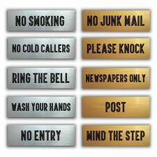 Vital Signs Door Plaques-No Smoking-No Junk Mail-No Entry-Post-Mind The Step