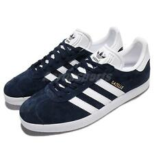 adidas Originals Gazelle Navy White Nubuck Classic Mens Shoes Sneakers BB5478