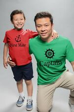 Captain First Mate Family Matching Set  Dad Son Daddy Daughter T shirts