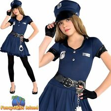 Cop Cutie Navy Police Woman Officer Girl Outfit Childs Kids Fancy Dress Costume  sc 1 st  eBay & Ladies Police Patrol Girl Outfit for Cop Fancy Dress Costume