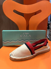 Espadrille 1789 Cala - Toile écru rouge et marine - Made in France !