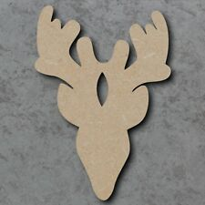 Large  MDF Wooden Laser Cut Stags Head Craft Shape Plaque Unpainted 20,30 40cm