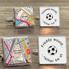 Personalised Football Fan Ground Cufflinks Favourite Place Man Utd Arsenal Mens