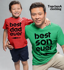 Best Dad and Best Son Ever Father Daddy Son Family Matching T shirts