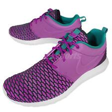 Nike Roshe NM Flyknit PRM Rosherun Purple Green Womens Running Shoes 746825-500